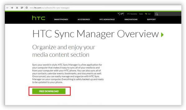 Install HTC Manager